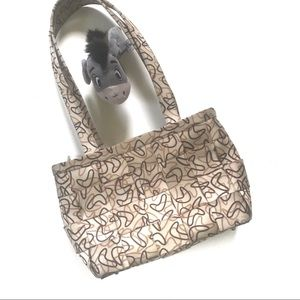 Harvey's cream seatbelt bag w/ 50s boomerang print